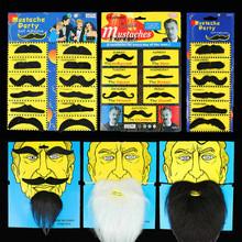Сделать смех дурацкий фестиваль хэллоуин из наряд танец может наряд играть производительность реквизит моделирование борода ложный усы мужчина характер борода