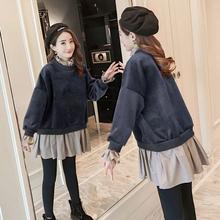 Беременная женщина наряд зимний с дополнительным слоем пуха установите 2017 новый волна мама верхняя одежда осенью и зимой моды корейский осень два рукава