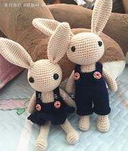 Ручной работы DIY вязание крючком ткать материалы куклы кукла длинные уши кроликов любители подарок видео бесплатная доставка