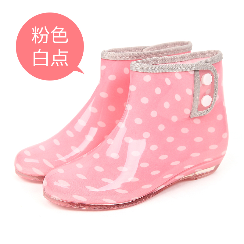 [USD 36.04] Cute rain boots short barrel Korean fashion ...