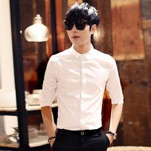 Лето мужской случайный семь штук рубашка тонкий корейский короткий рукав бизнес белый мужской устанавливается тип модельние рукав рубашка