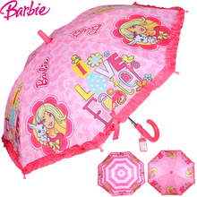 Барби ребенок зонт девочки сковорода автоматическая зонт принцесса иностранных зонт затенение девочка ученик ребенок солнце зонт
