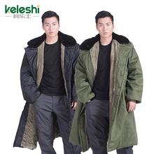 Подлинный армия пальто мужчина зимний уплотнённый длинная модель хлопок женская одежда труд страхование хуан одежду добавить долго безопасность холодный одежда
