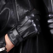 Кожзаменитель кожаные перчатки мужской осенью и зимой с дополнительным слоем пуха сохраняющий тепло анти ветер верховая езда мотоцикл перчатки студент коснуться корейский