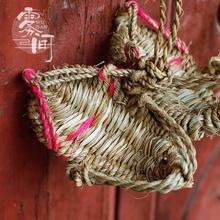 Юньнань дали белый гонка солома ремесла мини трава обувной игрушка брелок пальма маленькое сердце трава обувной исключительно вручную солома