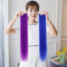 Два карта цвет прядь волос передавать лист постепенное изменение мелирование парик лист женский длинный прямо кудри лист бесшовный передавать хаки подушка волосы