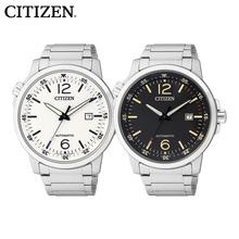 【 стол друг уровень 】CITIZEN западный железо город наручные часы серебристые водонепроницаемый машины мужские часы NJ0070-53A/E/F