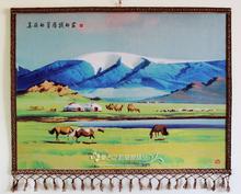 Новый красивый из степной мой домой монголия войлок живопись внутренней монголии характеристика ремесла бараны волосы цвет войлок живопись