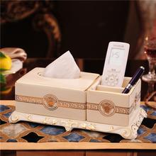 Континентальный роскошный керамика бумажные полотенца насосные коробка группа многофункциональный пульт в коробку высококачественный гостиная кофейный столик украшение