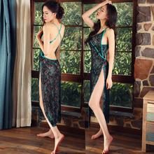 Fun внутри мужской одежды женщина муж жена форма в предвкушении энтузиазм установите строп без спинки классическая прозрачный перспектива платье SM вонь