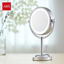 ABS любовь другой это круглый косметическое зеркало рабочий стол дуплекс косметическое зеркало дуплекс LED ночь между косметическое зеркало