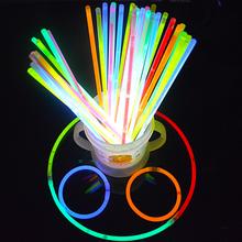 Играть петь может флуоресцентный стержень вспышка палка флуоресцентный палка флуоресценция браслет свет палка соединитель серебро 100 корень газ атмосфера реквизит