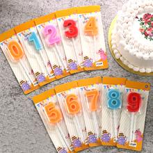 Торт день рождения свеча заметка цифровой свеча ремесла подарок цвет пищевого свеча рождество партия свеча