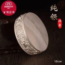 999 чистое серебро восемь благоприятный половина ручной работы человек наконечник блюдо серебро 925 пробы для ремонт человек чайный поднос ремонт пять плюс хорошо ремонт блюдо 10cm110g
