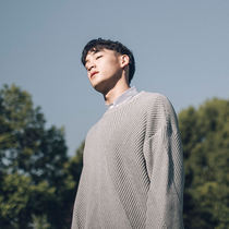 Play the pharmacy Bytehare 3404 the Japanese off the shoulder couples personality chamfered textured cotton knit men's sweater