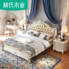 Лес клан дерево промышленность принцесса кровать 1.8 3м кровать современный простой роскошный континентальный королева брак кровать мебель KA628H