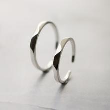 Серебро украшения эта жизнь S925 серебро 925 пробы любители кольцо пара мужской и женщины простой трапеция резьба открытие регулируемые кольцо женщина
