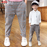 Meters West fruit 2018 the new children's spring clothing boys pants spring and autumn paragraph casual pants tide mounted a large children's wear trousers in the Korean version