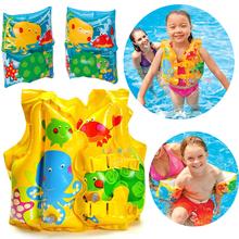 Подлинный INTEX сгущаться ребенок спасательные жилеты ребенок младенец плавать жилет ребенок газированный ребенок плавать одежда