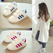 Осень обувь дети белые туфли обувь casual девочки белый обувь корейский кроссовки дикий мальчиков ребенок обувь