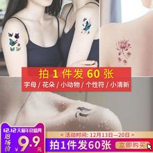 60 чжан тату паста мужской и женщины водонепроницаемый продолжительный личность английский небольшой свежий моделирование сексуальный шип зеленый крышка отметина тату наклейки