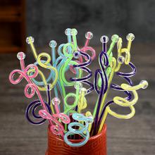 Бесплатная доставка размешивать палка акрил цвет ядро настроить ликер палка настроить сок палка спираль движение палка перевернутый комплекс использование 10 палочки искусство палка