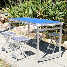 На открытом воздухе складной стол отправить набор наряд портативный легкий выставка промышленность стол барбекю пикник стол легко реклама земля толкать качели стенд стол