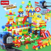 Выгода прекрасный совместимый лего строительные блоки крупных частиц мальчик сын ребенок игрушка 1-3-5-6 полный год девушка головоломка заклинание взять