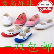Глобальный страна способ танец обувной ребенок гимнастика обувной мальчиков и девочек, белый шар обувной белые туфли детский сад комнатный белые туфли обувь