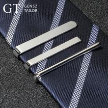 Медь зажим для галстука мужской официальная одежда простой фасон бутик бизнес наконечник золотой пряжкой серебро клип