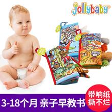 Jollybaby хвост ткань книги обучения в раннем возрасте головоломка ребенок трехмерный ткань книги ребенок игрушка рвать неплохо 0-3 может укусить