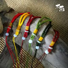 Дерево западный веер шнур вешать шип кисточка китайский узел монтаж шарик ручной вязки шнур красный и желтый бордо кофе зеленый