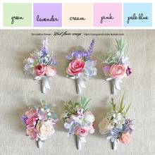 Новый корсаж отворот цветок браслеты из цветов сестры цветок моделирование царство хань западный свадьба бизнес свадьба фотография baby blue фиолетовый отдел