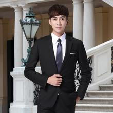 Тонкий мужской костюм установите молодежь запад пальто мужчина официальная одежда бизнес повседневный маленький корейский костюм куртка осень