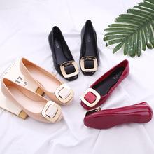Новый летний кухня желе мелкий рот сапоги водонепроницаемый обувной скольжение клей обувной для взрослых низкий мода квартира обувь женщина