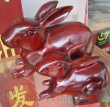 Вьетнам красное дерево ремесла статья резьба по дереву украшение белая кислоты палочки из древесины знак кролик сын заграница ремесла дерево резьба