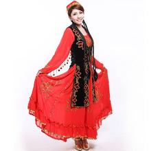 Танец одежда танец производительность одежда синьцзян народ одежда размер Я ваш гонка танец женская одежда бесплатная доставка