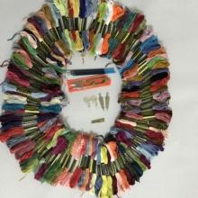 Вышивка крестом линия 100 цвет 100 филиал 8 метр 6 доля филиал линия трехмерный вышивка доставка инструмент 1 крышка таволга бесплатная доставка