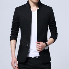Лето мужской небольшой костюм пальто случайный костюм мужчина облегающий, южнокорейская версия воротник чжуншань наряд молодежь мужской куртка волна
