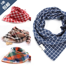 Корея ребенок треугольник хлопок пряжа полотенце дуплекс сетка ребенок нагрудник шарф нагрудник ребенок шарф