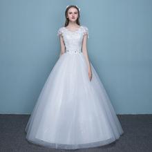 Свадьба платья кружево плечи V воротник тонкий принцесса большой двор ровная земля свадьба 2017 новый новый мать выйти замуж платья
