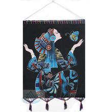 Гуйчжоу специальный свойство сейф послушный рассада гонка характеристика ручной работы настенный бескаркасный ручная роспись народ ремесла статья холст вес цвет живопись бабочка женщина