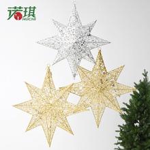 Обещание самоцвет железо блеск взрыв звезда восьмиугольный звезда очарование трехмерный звезда торговый центр кабинет окно ткань положить рождество декоративный статья