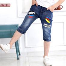 Мальчиков 7 минут штаны тонкая модель 2017 новый летний костюм в больших детей джинсы ребенок шорты ребятишки брюки корейская волна