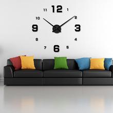 Продаётся напрямую с завода творческий настенные часы европа и америка просто мода немой настенные часы diy зеркало цифровой настенные часы