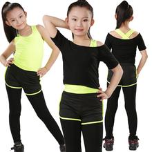 Йога женская одежда ребенок танец движение младенец фитнес одежда лето короткий рукав форма пижама гимнастика дети ребенок практика гонг одежда