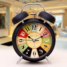 Шаг ваш немой будильник творческий студент дети будильник шумный стол континентальный кварц колокол гостиная прикроватный часы сиденье колокол