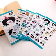Корея DIY альбомы наклейки тень коллекция ручной работы наклейки ручной работы палка стиль с модель спокойный вы вместе 5 чжан