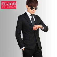 Костюм установите мужской четыре сезона облегающий, южнокорейская версия небольшой костюм оккупация официальная одежда три образца спутник молодежное мужчина выйти замуж платья
