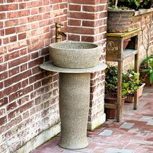 Мойте руки бассейн колонка стиль мыть бассейн керамика легко колонка бассейн балкон ванная комната на открытом воздухе один этаж тайвань бассейн бассейн